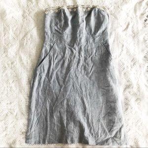 Vineyard vines strapless chambray dress